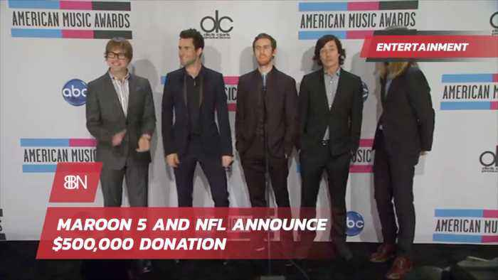 Maroon 5 And NFL Donate 500,000 Dollars And Cancel News Conference