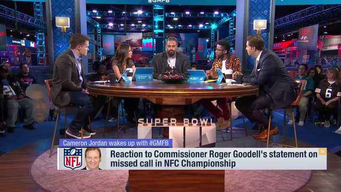 New Orleans Saints defensive end Cameron Jordan reacts to Roger Goodell's statement on NFC Championship no-call on 'Good Morning