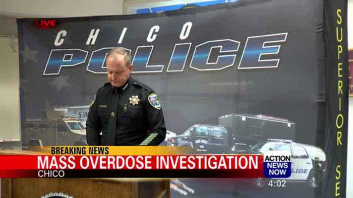 Chico Police Department Holds Press Conference on Mass-Overdose in Chico