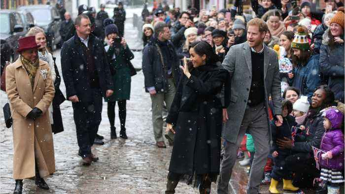 Crowds Brave Cold To Welcome Meghan And Harry In Bristol