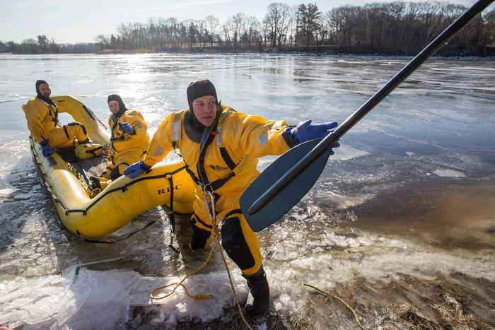Ipswich First Responders Rescue A Deer Stuck In Ice