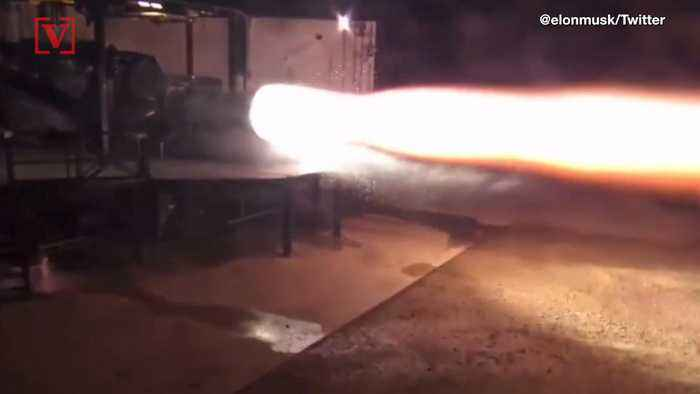 Watch as Elon Musk Gives Us Sneak Peak at First Firing of New Raptor Engine