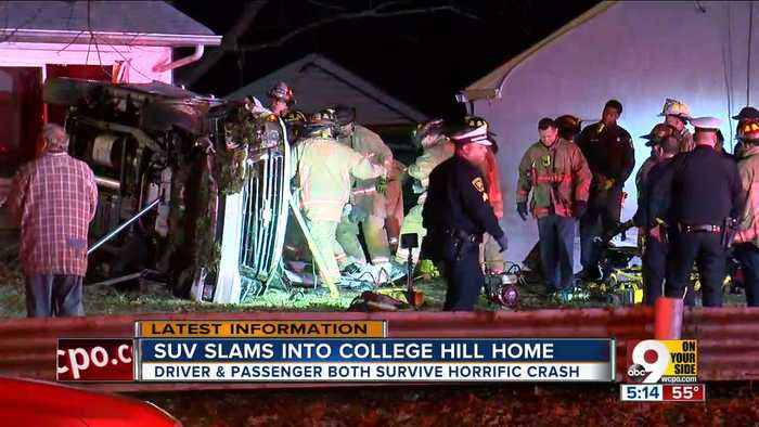 FD: 2 hurt after man drives into College Hill home
