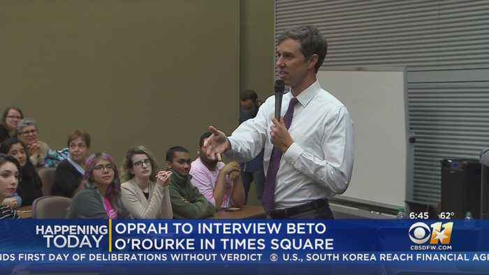 Beto O'Rourke Sits Down For Interview With Oprah