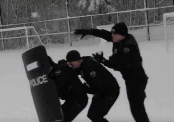 Police Rush to Take Part in Snowball Fight Near Seattle
