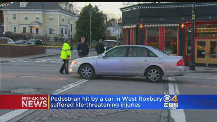 Pedestrian Hit By Car In West Roxbury