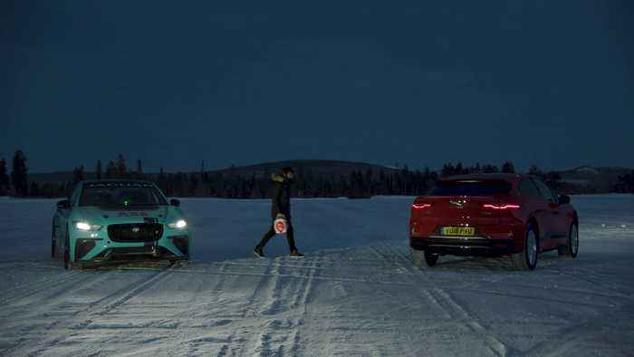 Jaguar Racing takes to the ice in Arctic Circle Challenge