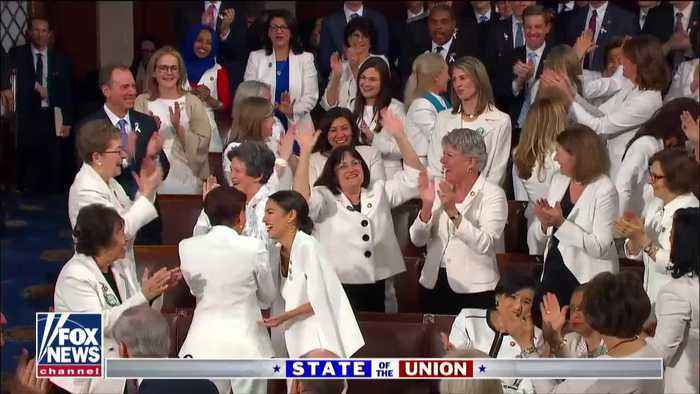 President Donald Trump's speech triggers applause from Democrat women