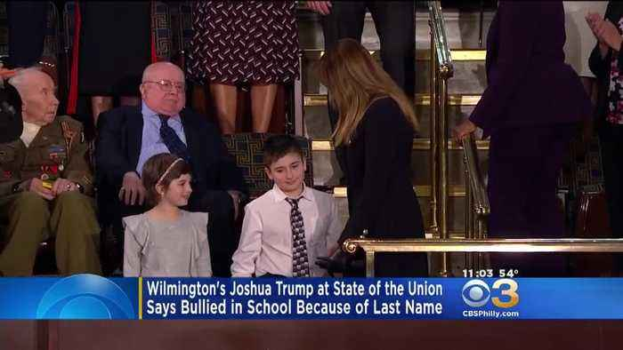 Wilmington 6th Grader Joshua Trump Sits Next To First Lady At State Of The Union Address