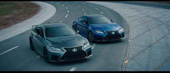 The new Lexus RC F Track Edition Trailer