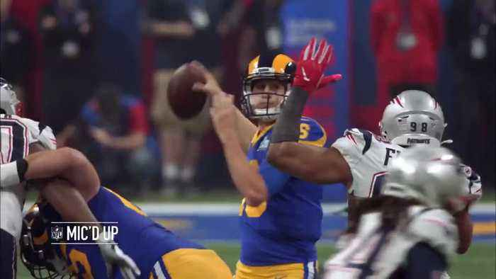 Mic'd Up: Players react to Los Angeles Rams wide receiver Brandin Cooks' would-be TD | Super Bowl LIII