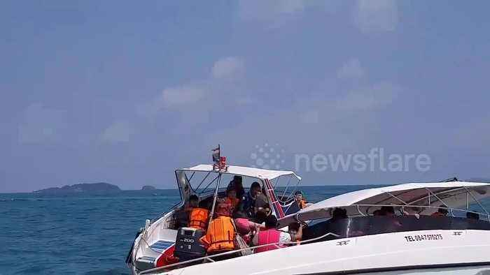 Tourists rescued after speedboat capsizes off Thai island