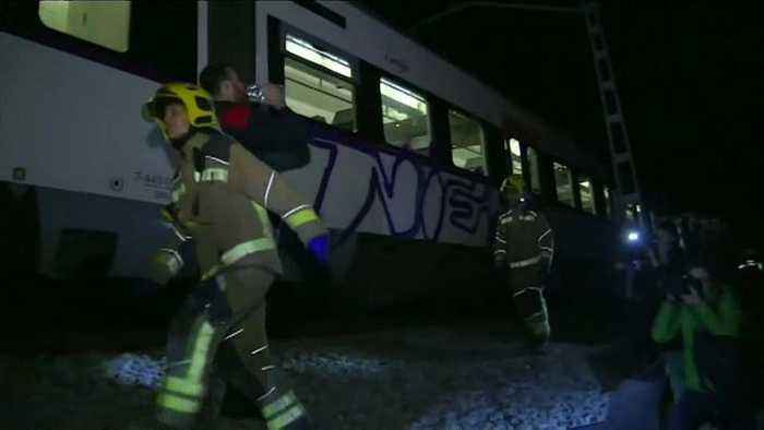 Head on train crash near Barcelona kills one of the drivers