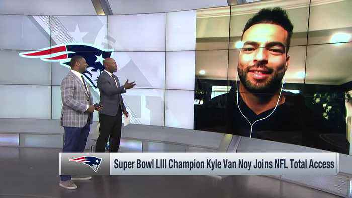 New England Patriots linebacker Kyle Van Noy explains why he went over to talk to Gladys Knight at Super Bowl LIII