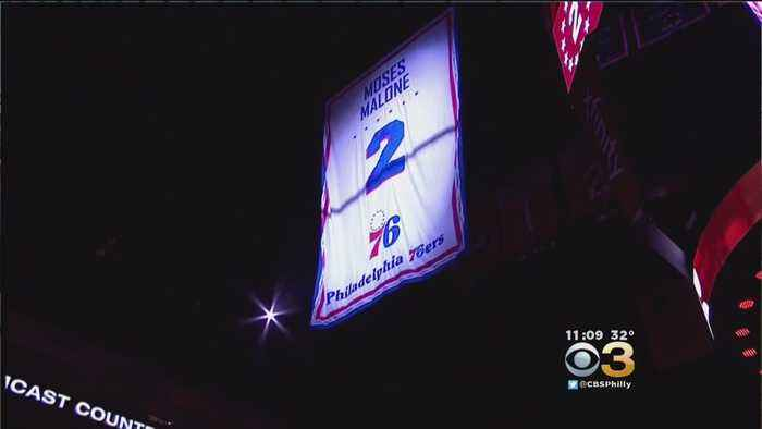 Sixers Retire Moses Malone's Number, Unveil Statue