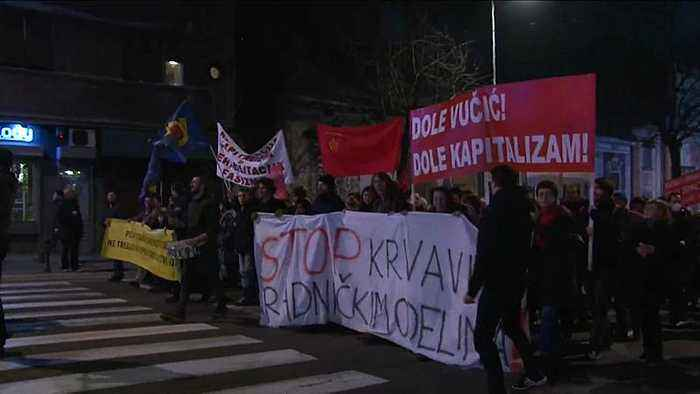 Anti-government protests continue in Serbia for 10th week