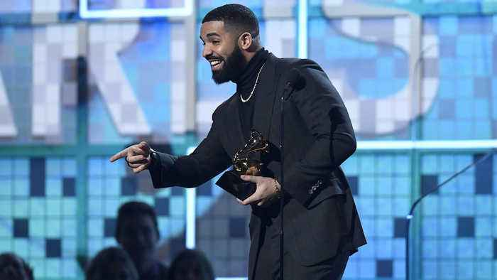 Drake Makes Surprise Appearance at 2019 Grammys to Accept Award for Best Rap Song   Billboard News