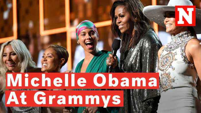 Watch: Michelle Obama Surprises Crowd At 2019 Grammys