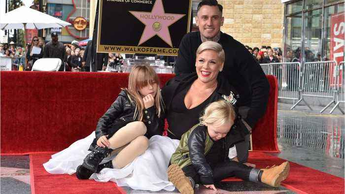 Pink's Gets Homemade Grammy From Kids