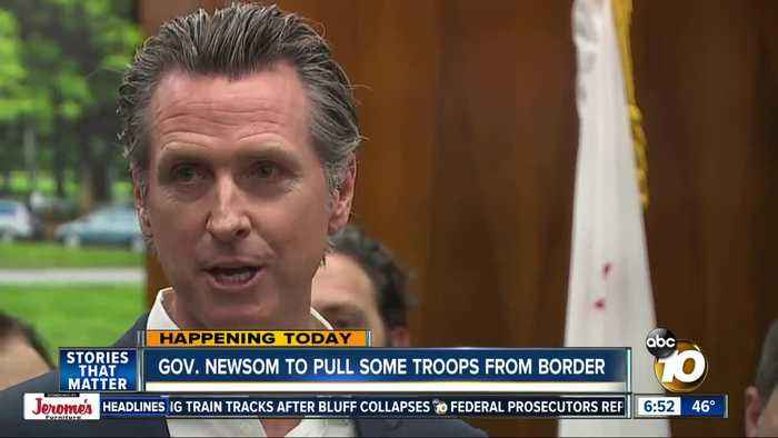 Newsom plans to recall troops from California border