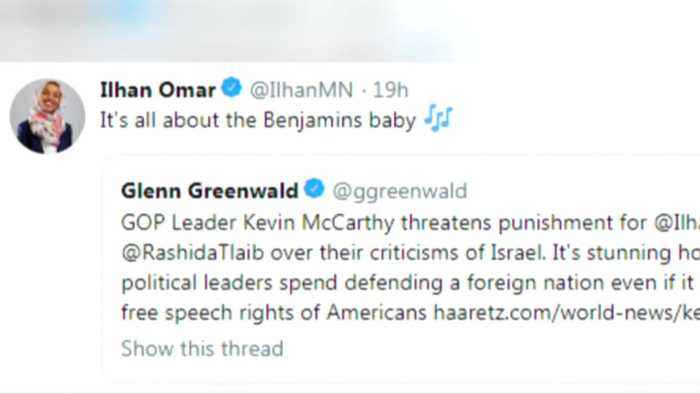Omar apologizes after accused of 'anti-Semitic tropes'