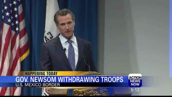Gov. Newsom Plans to Withdraw Troops From U.S.-Mexico Border