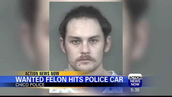 Wanted Felon Behind Bars After Hitting Chico Police Car