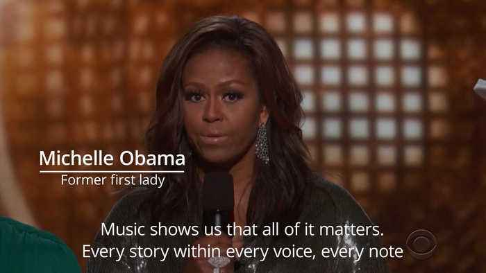 Michelle Obama makes surprise appearance at Grammys 2019