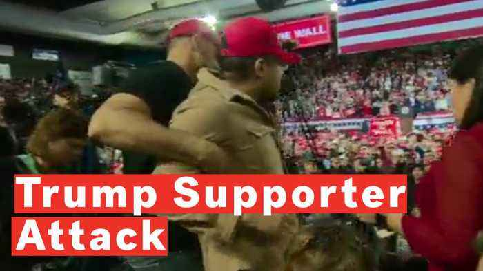 'F*** The Media': Trump Supporter Violently Attacks Cameraman At Rally