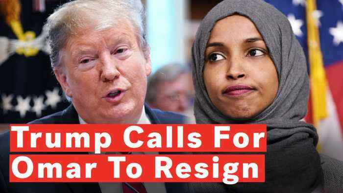Trump: Rep. Ilhan Omar Should 'Resign From Congress' After Israel Tweets
