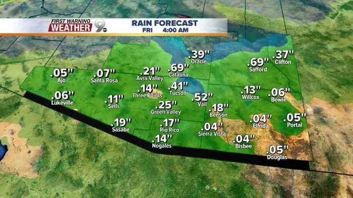 Milder temperatures return to the forecast along with some rain