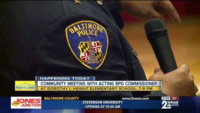 Harrison spends first night as acting commissioner with people of Northwest Baltimore