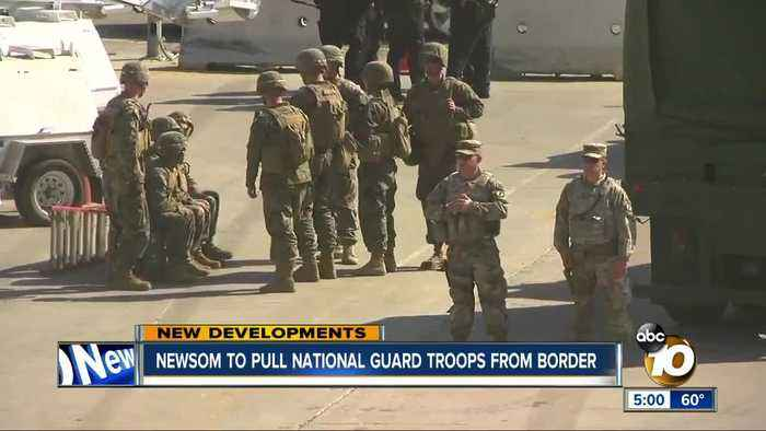 Gov. Newsom to withdraw National Guard troops from US-Mexico border in California