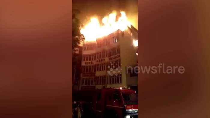 At least 17 dead and several injured as fire rips through Delhi hotel