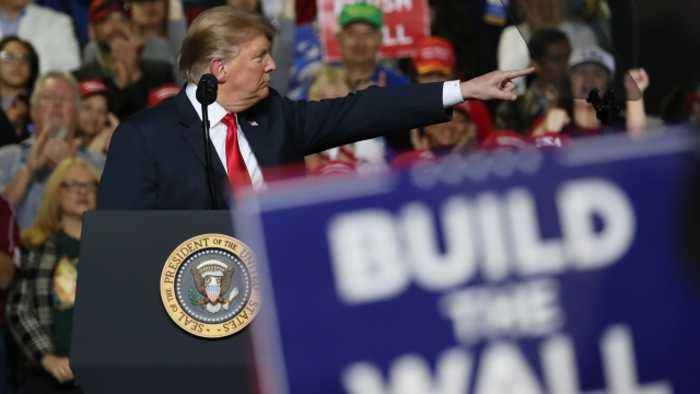 Lawmakers Negotiate A Border Bill While Trump Holds Rally