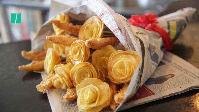 Woo Your Love With A Valentine's Fish & Chips Bouquet