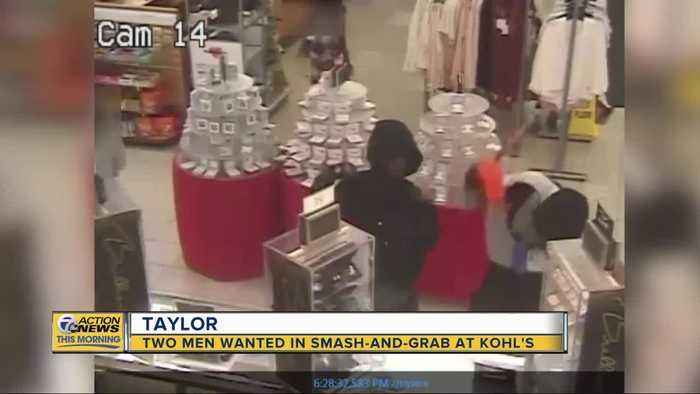 Men wanted in smash-and-grab at Taylor Kohl's