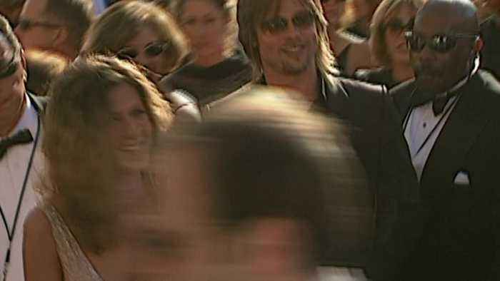 Brad Pitt and Jennifer Aniston at the 2002 Emmy Awards