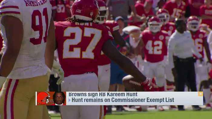 Nate Burleson on Cleveland Browns running back Kareem Hunt: Give him time to 'make up for his mistakes'