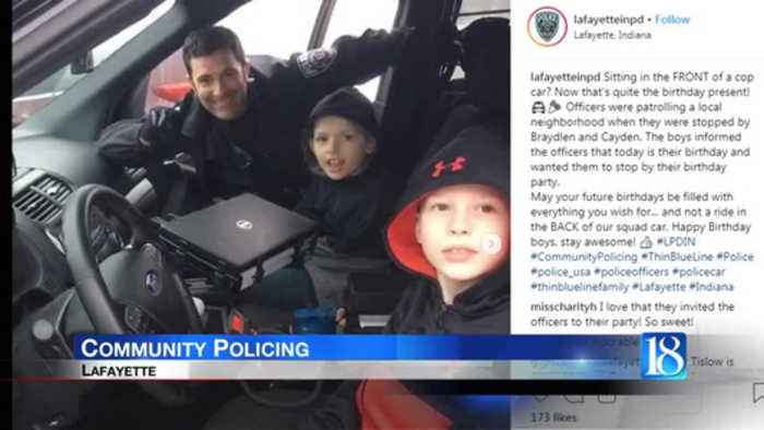 Lafayette police provide birthday ride to remember