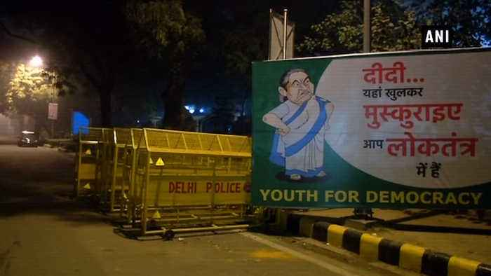 Posters of Mamata Banerjee asking her to 'smile' put up across Delhi