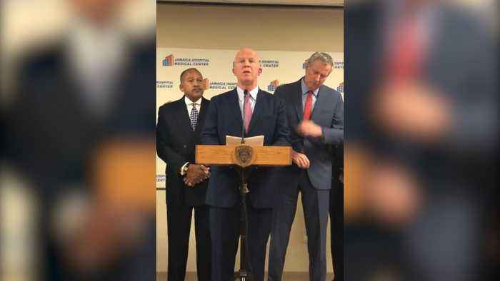 NYPD Commissioner Gives Statement On Police Detective Killed By Friendly Fire In Queens
