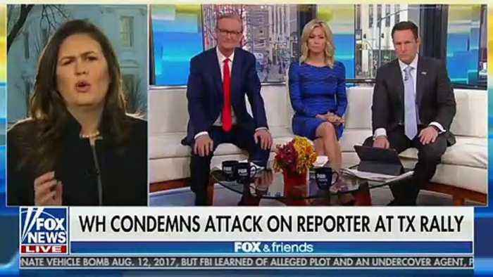 Sarah Sanders Says It's 'Absolutely Absurd' To Suggest Trump Would 'Encourage Violence' At Rallies