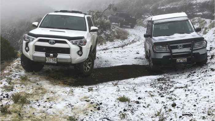 Hawaii Hit With Snow During Wild Storm
