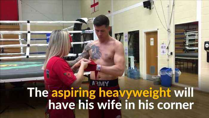 Army husband and wife boxing team train ahead of pro debut