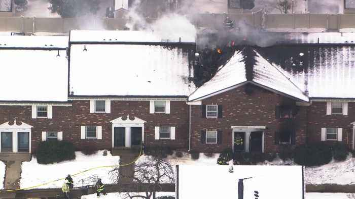 RAW VIDEO: Firefighters Fight Blaze At Framingham's Windsor Green