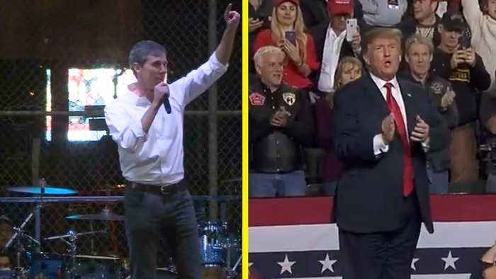 Beto O'Rourke and Donald Trump Held Competing Rallies in El Paso on Same Night