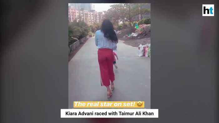 Kiara Advani races with Taimur on her film set reveals him to be a star