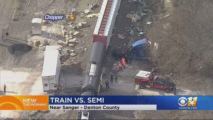 Train Crashes Into Big Rig In Denton County