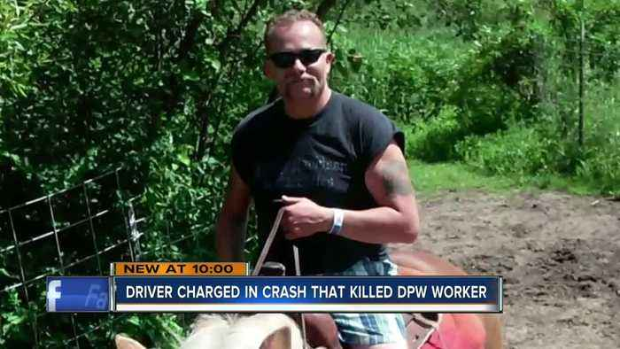 Driver charged in crash that killed DPW worker